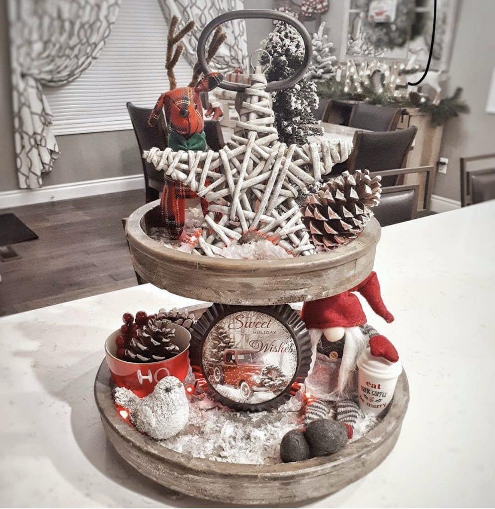 DIY Christmas tray