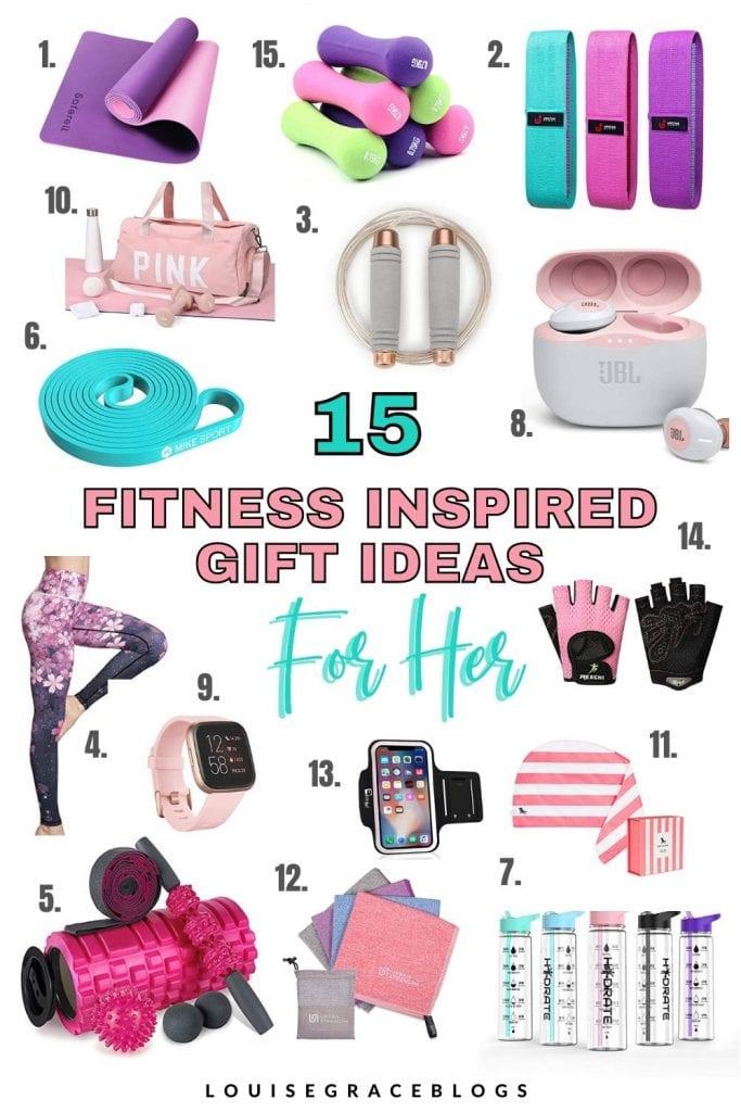 15 Fitness inspired gift ideas for her.