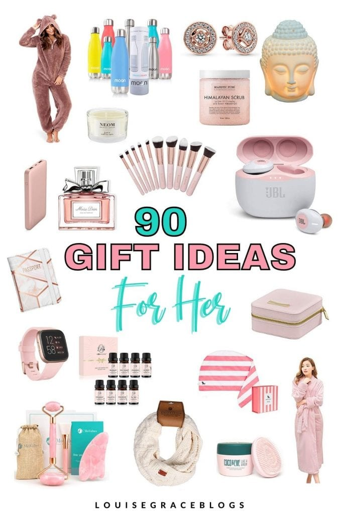 90 Christmas gift ideas for her.