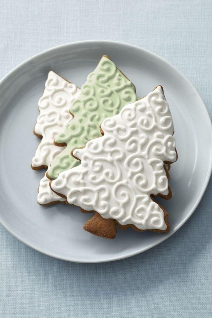 Gingerbread tree Christmas cookie