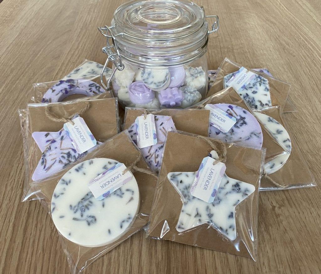 DIY Lavender soy wax sachets
