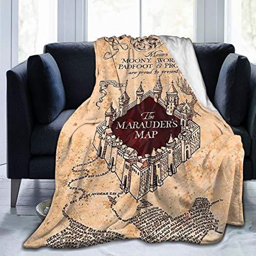 Marauders Map Throw Blankets