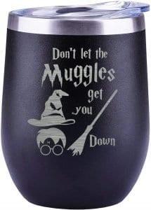 Muggles wine glass