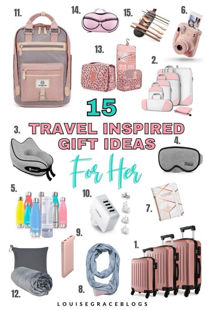 15 Travel inspired gift ideas for her.