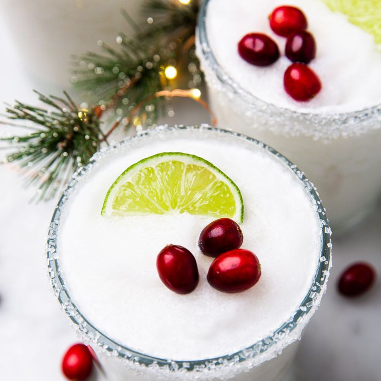 White Christmas cocktails