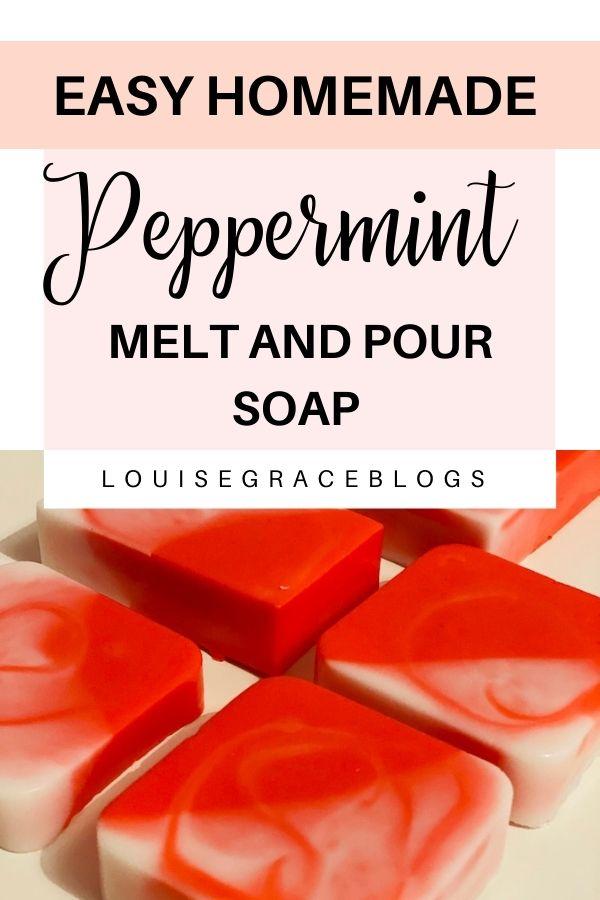 How to make peppermint swirl soap bars