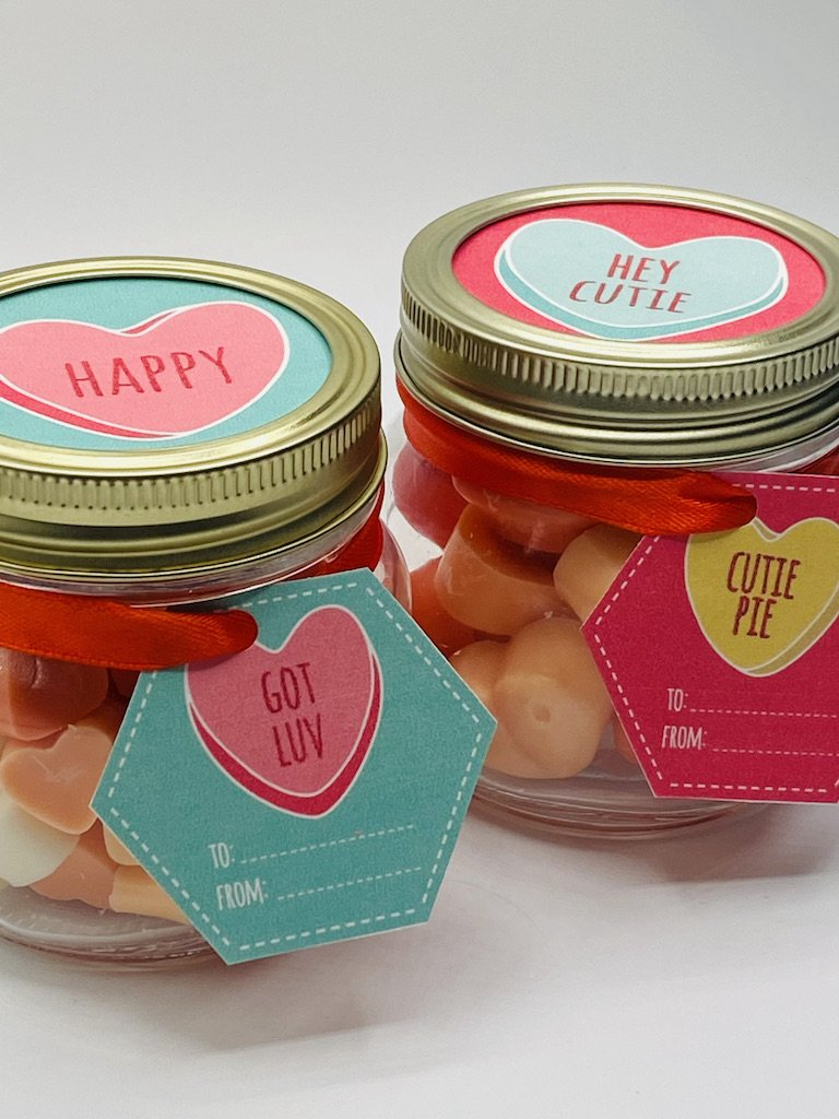 DIY Valentines inspired soy wax melt gifts