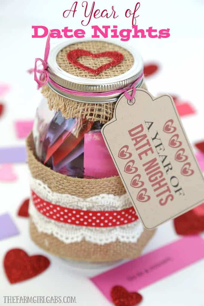 DIY Valentine mason jar gifts