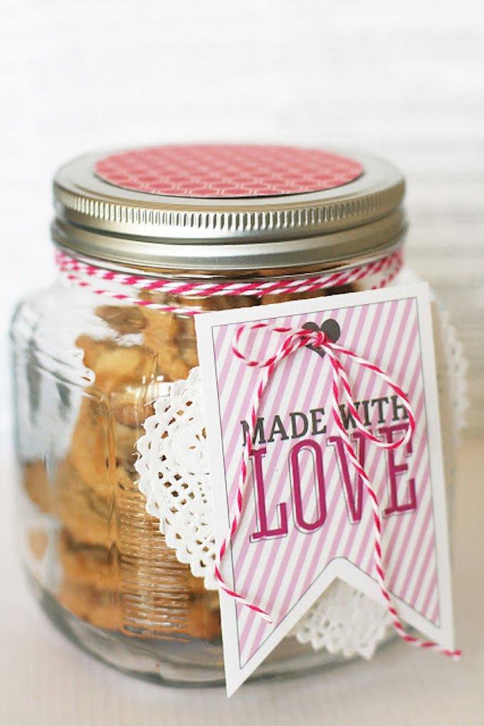 Valentine mason jar gifts