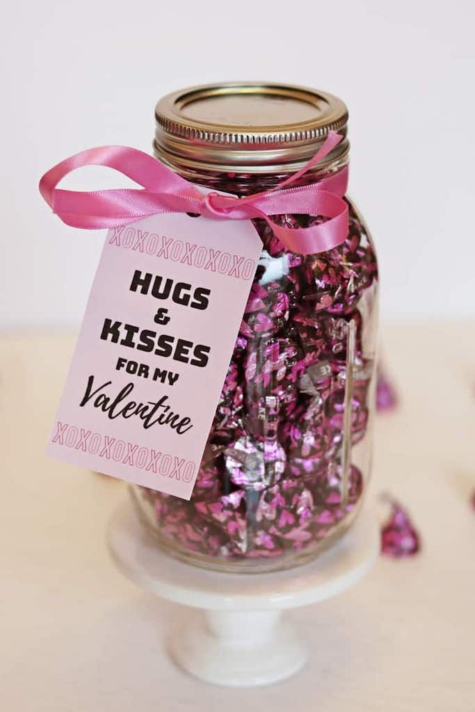 DIY mason jar valentines gifts