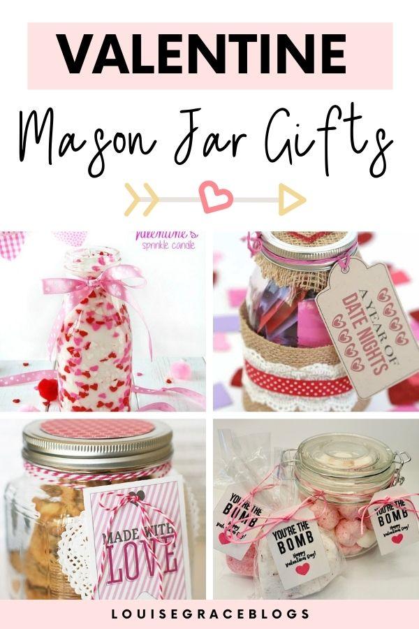 Mason jar valentine gift ideas