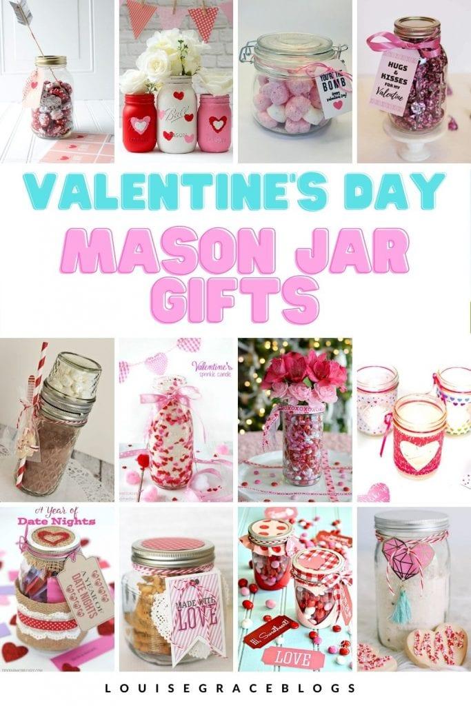 Valentine DIY mason jar gift ideas