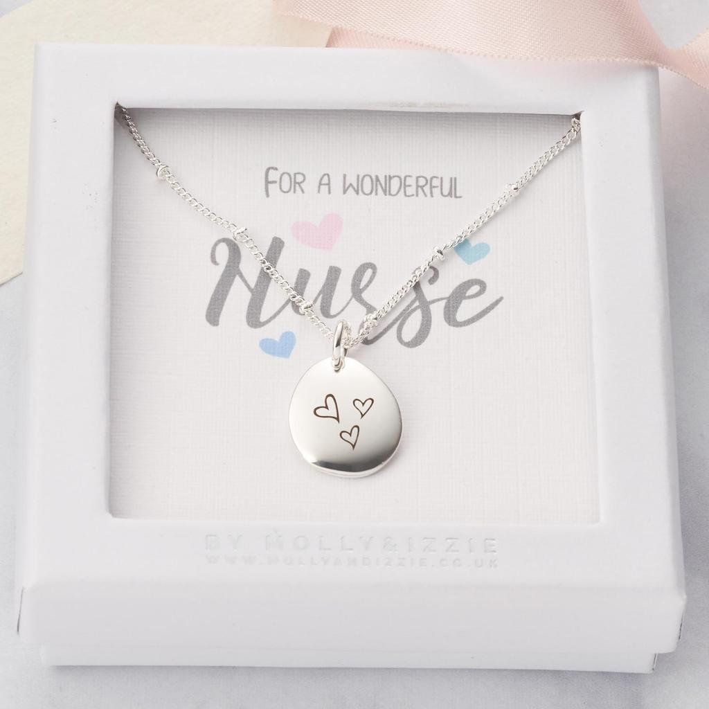 Personalised nurse necklace gift
