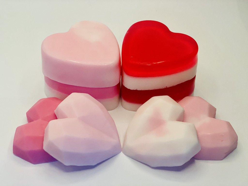 Rose scented DIY soap bars