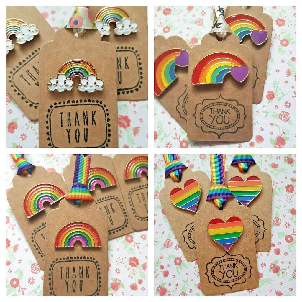 Rainbow pin badges